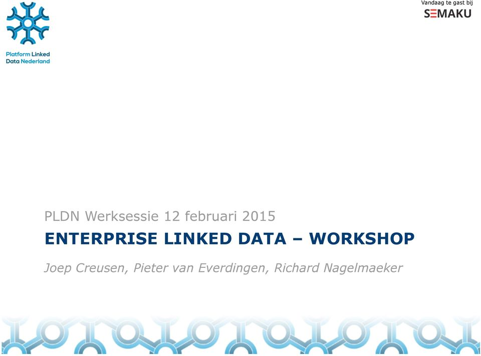 DATA WORKSHOP Joep Creusen, Pieter