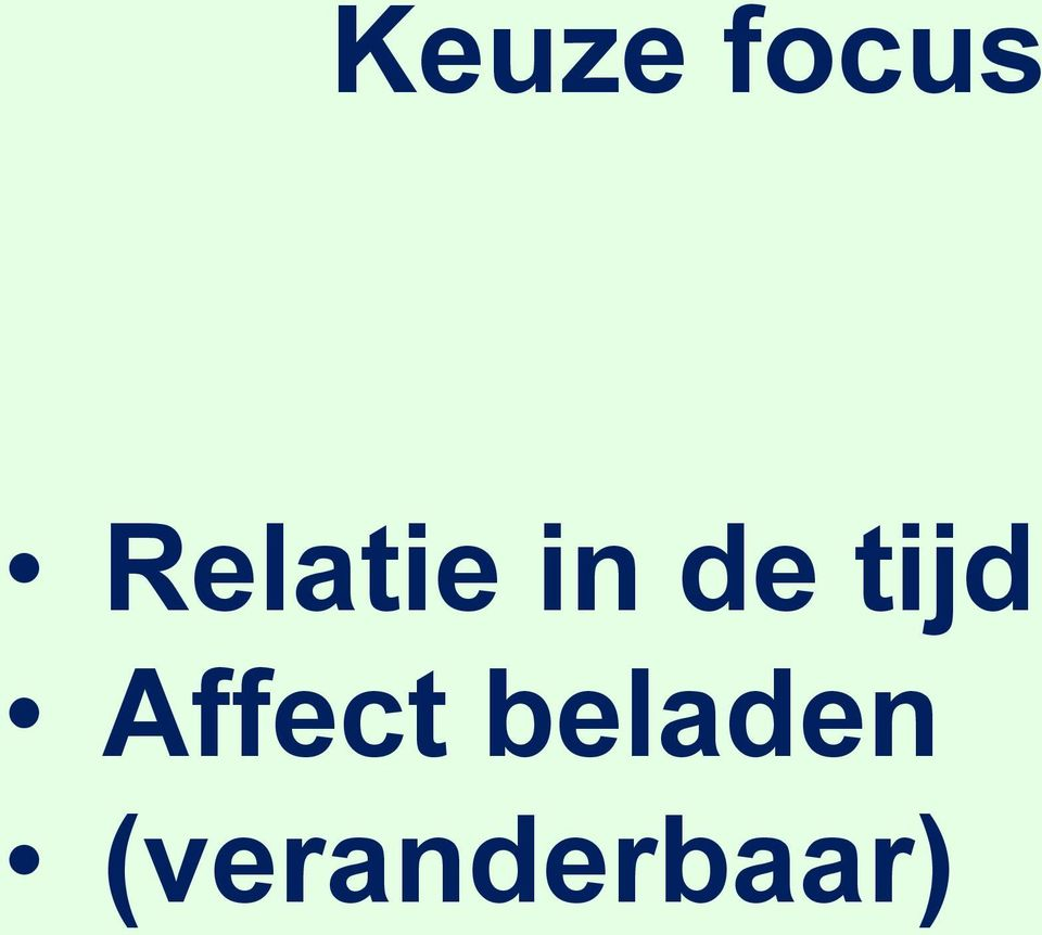 tijd Affect
