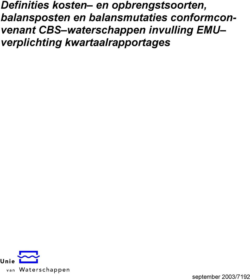 conformconvenant CBS waterschappen
