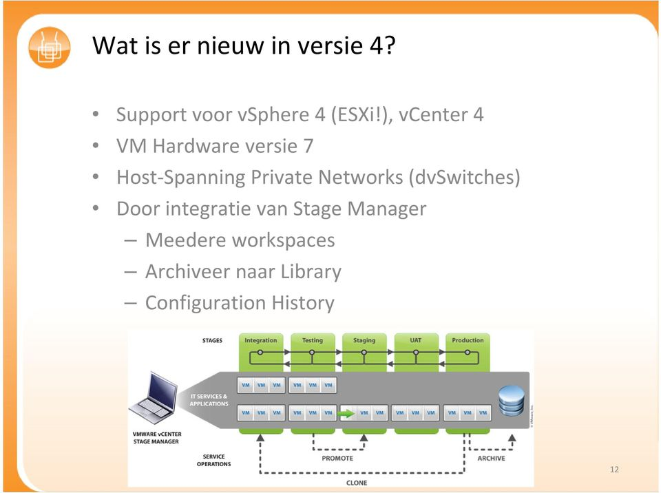 Networks (dvswitches) Door integratie van Stage Manager