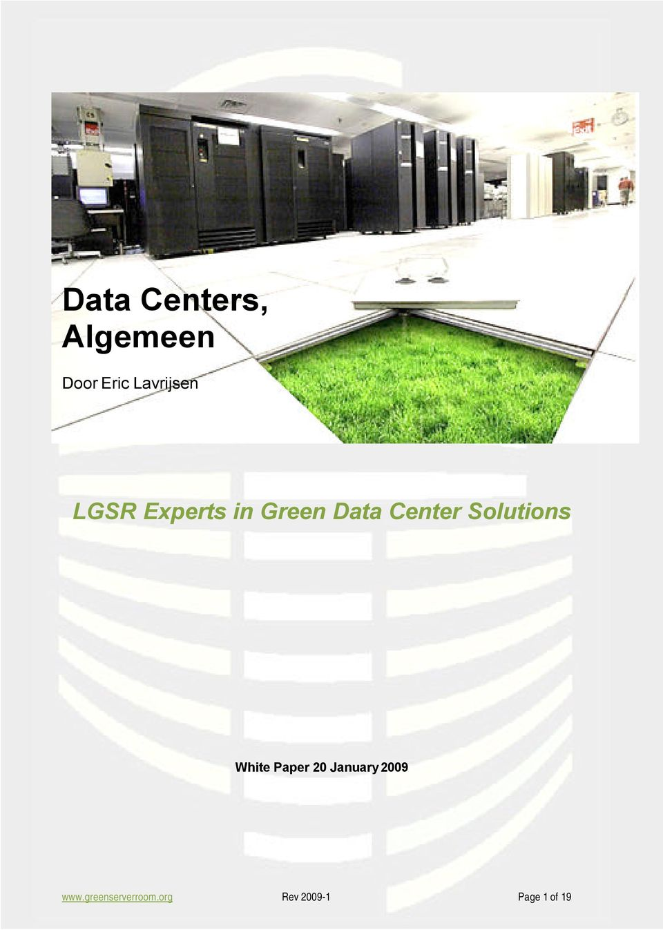 Center Solutions White Paper 20 January
