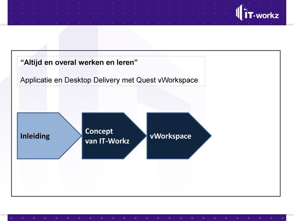 Delivery met Quest vworkspace