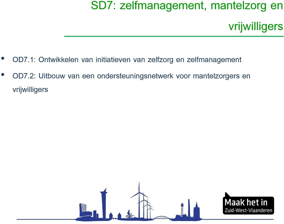 en zelfmanagement OD7.