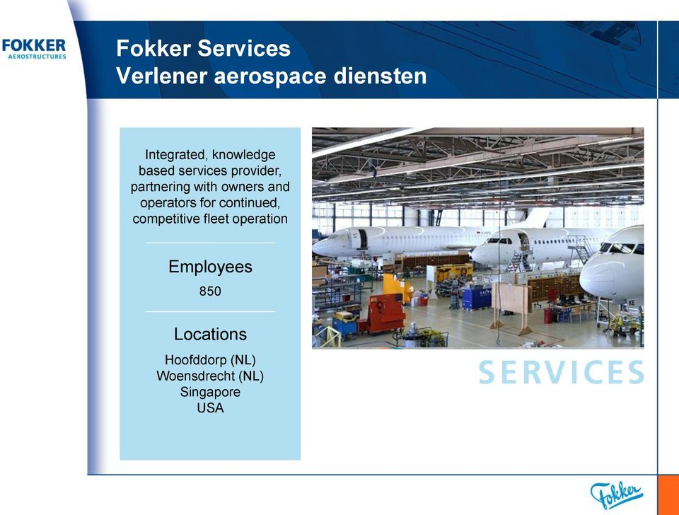 and operators for continued, competitive fleet operation
