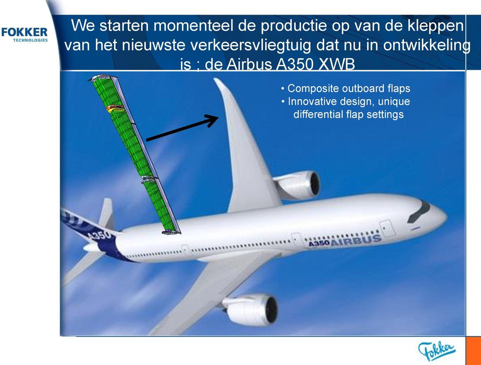 ontwikkeling is ; de Airbus A350 XWB Composite