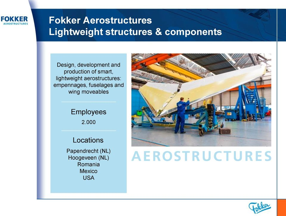 aerostructures: empennages, fuselages and wing moveables