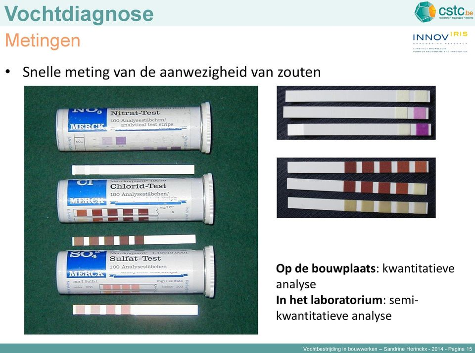 analyse In het laboratorium: semikwantitatieve analyse