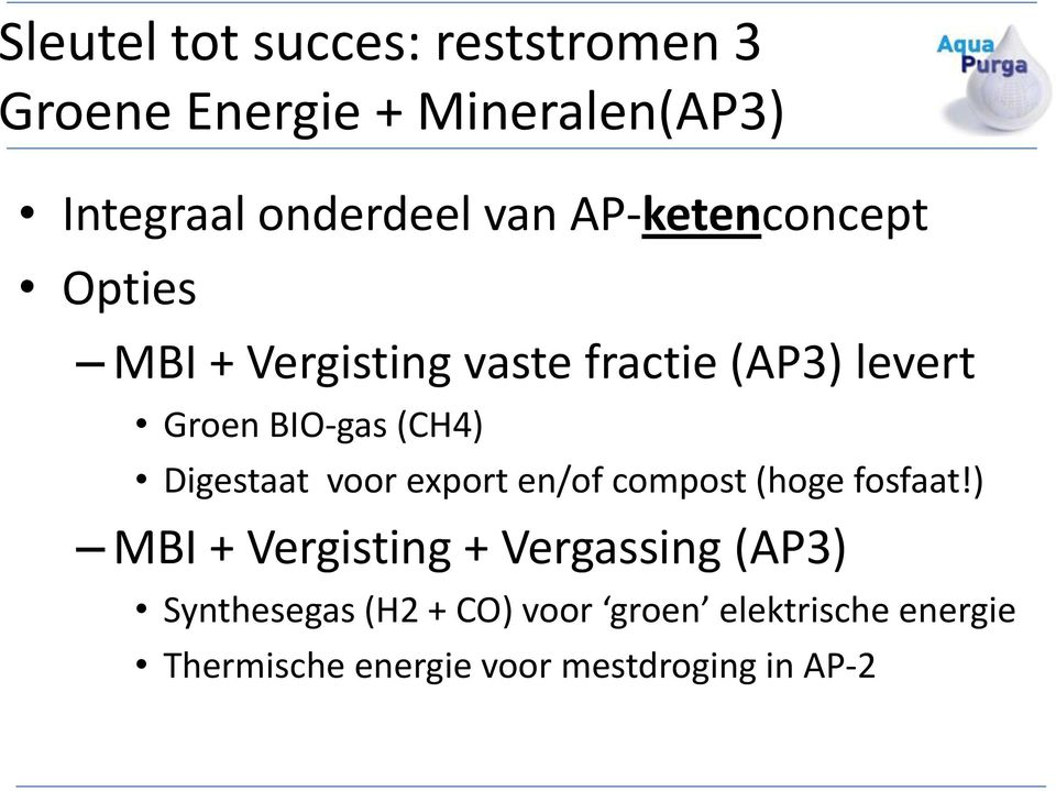 Digestaat voor export en/of compost (hoge fosfaat!