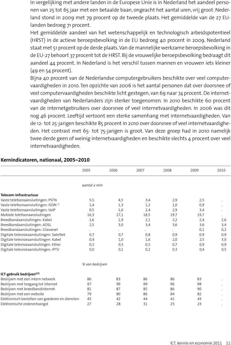 Het gemiddelde aandeel van het wetenschappelijk en technologisch arbeidspotentieel (HRST) in de actieve beroepsbevolking in de EU bedroeg 40 procent in 2009.