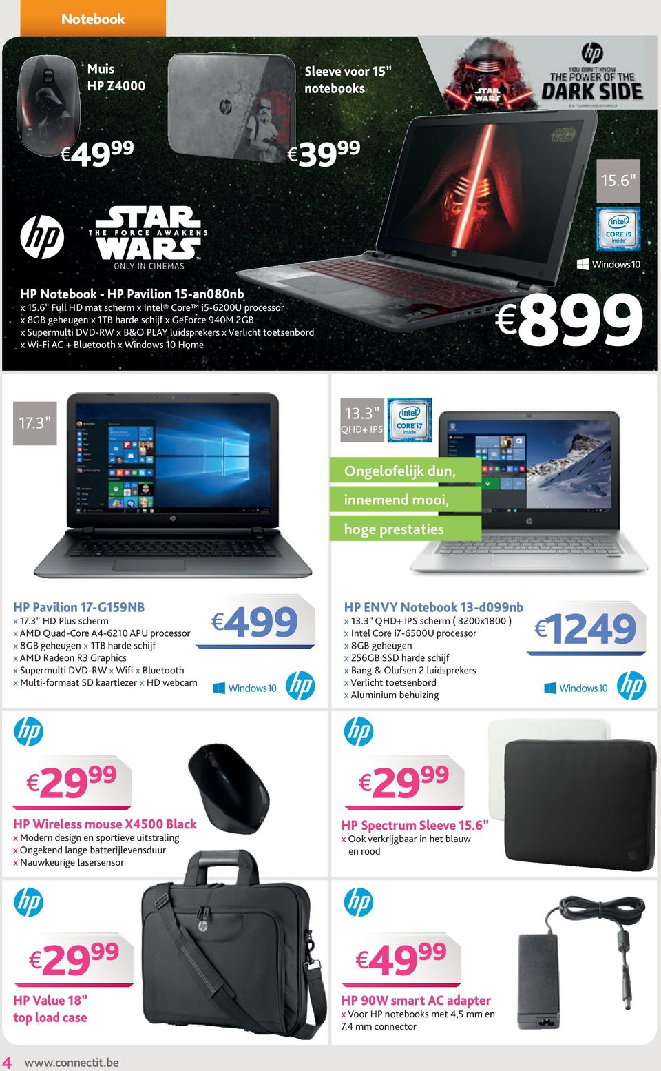 Windows 10 Home 8 17.3 13.3 QHD+ IPS Ongelofelijk dun, innemend mooi, hoge prestaties HP Pavilion 17-G159NB x 17.