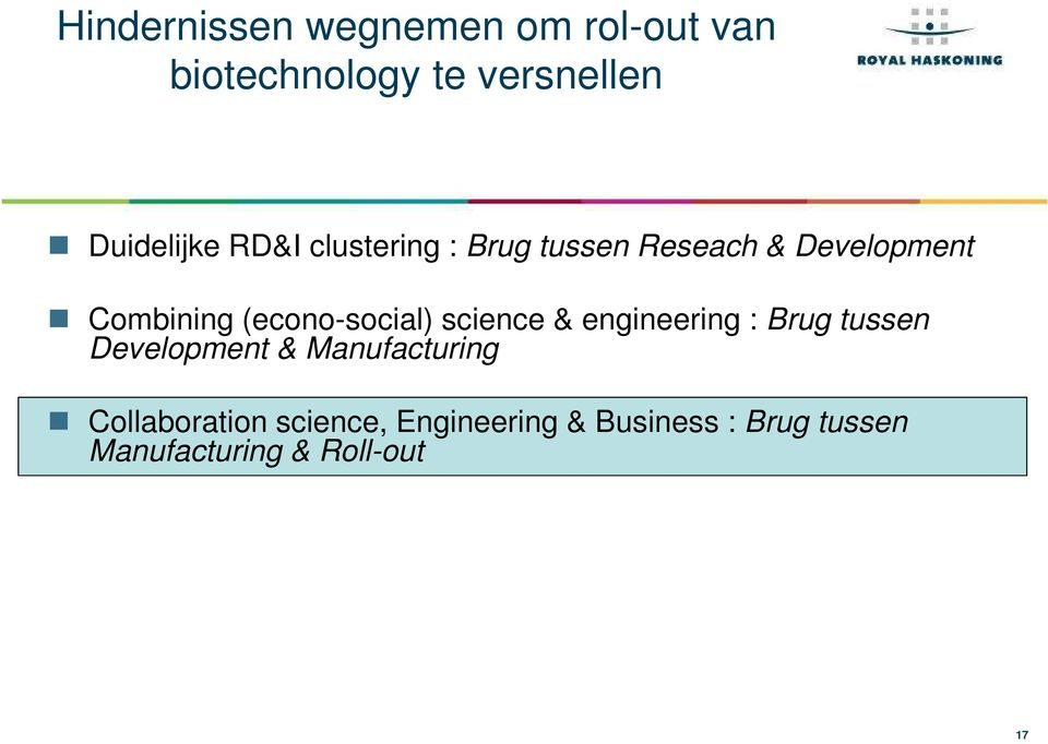 (econo-social) science & engineering : Brug tussen Development &