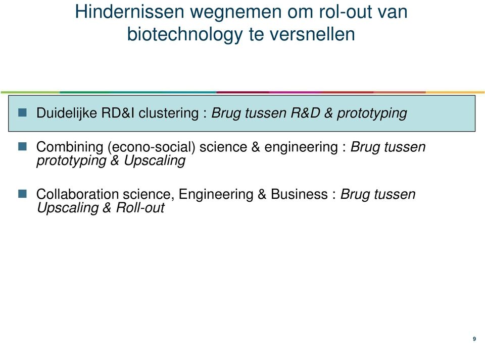 (econo-social) science & engineering : Brug tussen prototyping &