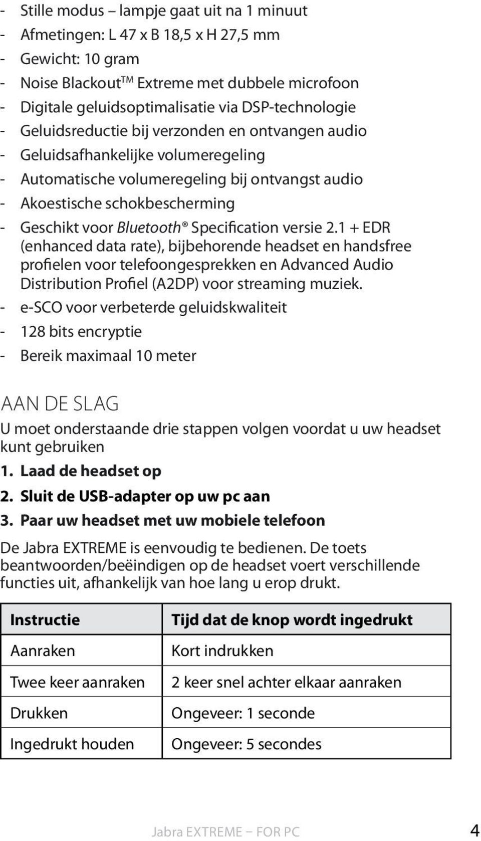 voor Bluetooth Specification versie 2.