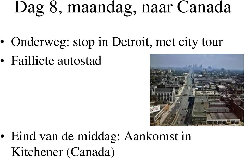 city tour Failliete autostad Eind