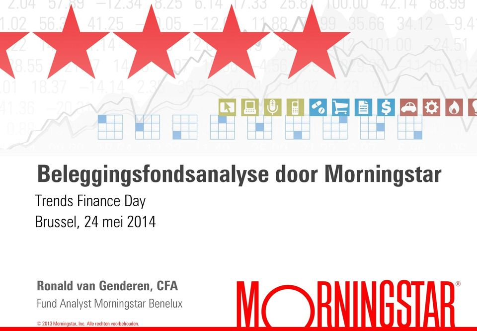 Genderen, CFA Fund Analyst Morningstar Benelux