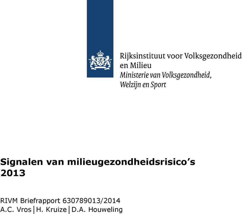 2013 RIVM Briefrapport
