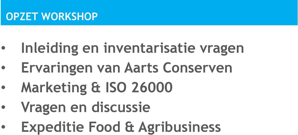 Aarts Conserven Marketing & ISO 26000