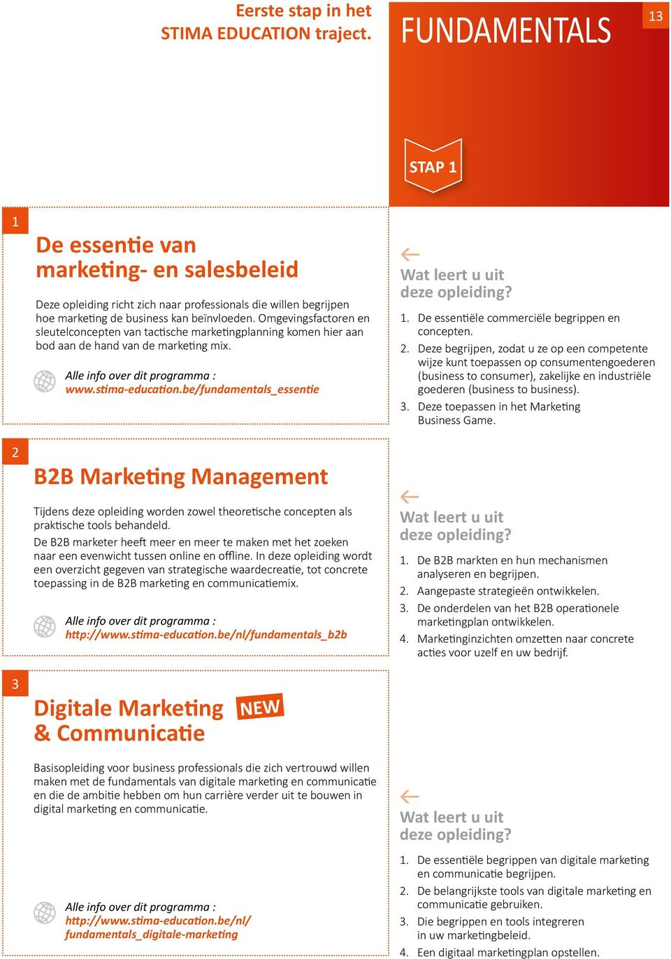 Omgevingsfactoren en sleutelconcepten van tactische marketingplanning komen hier aan bod aan de hand van de marketing mix. www.stima-education.