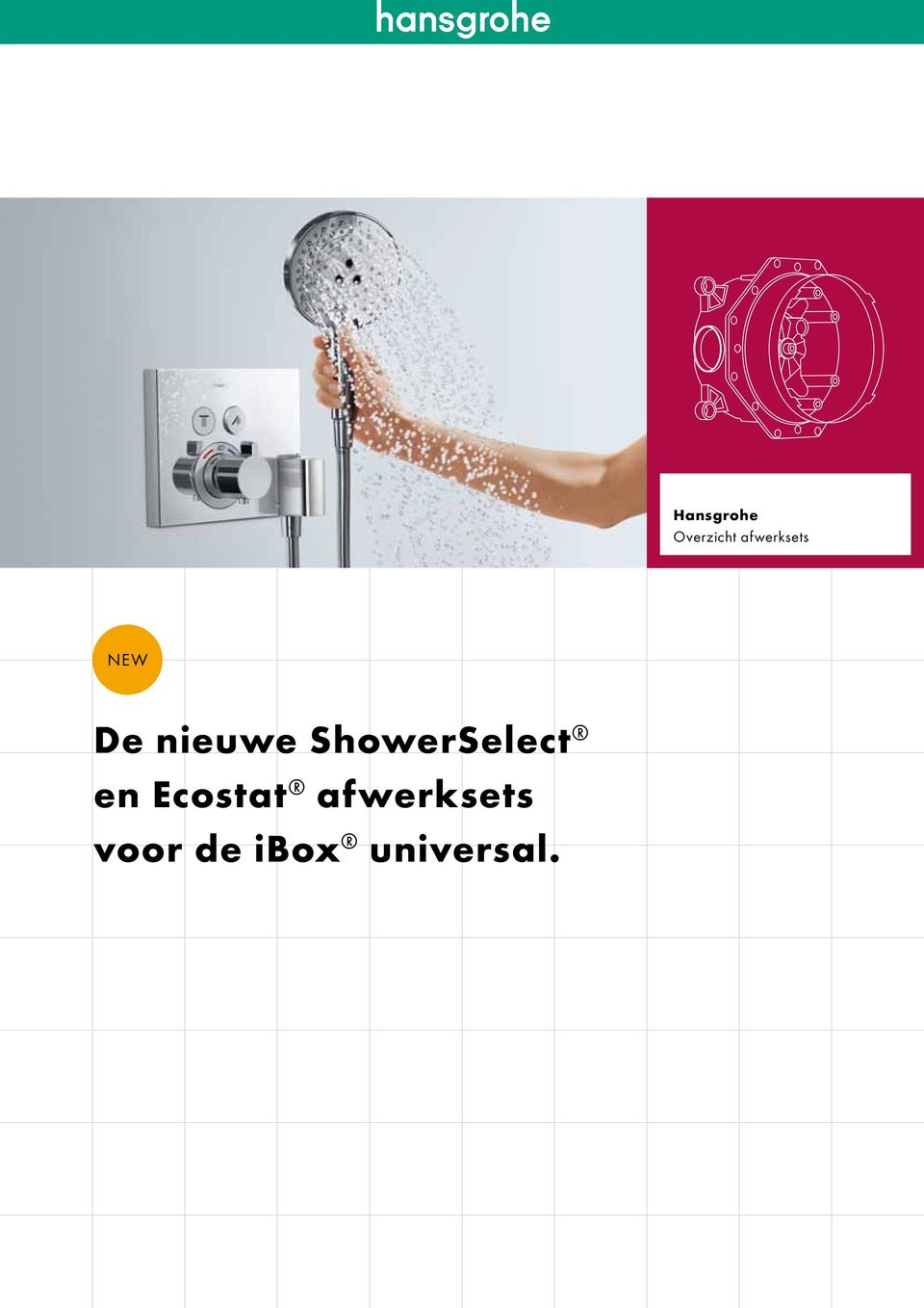 hansgrohe overzicht afwerksets new de nieuwe showerselect en ecostat afwerksets voor de ibox. Black Bedroom Furniture Sets. Home Design Ideas