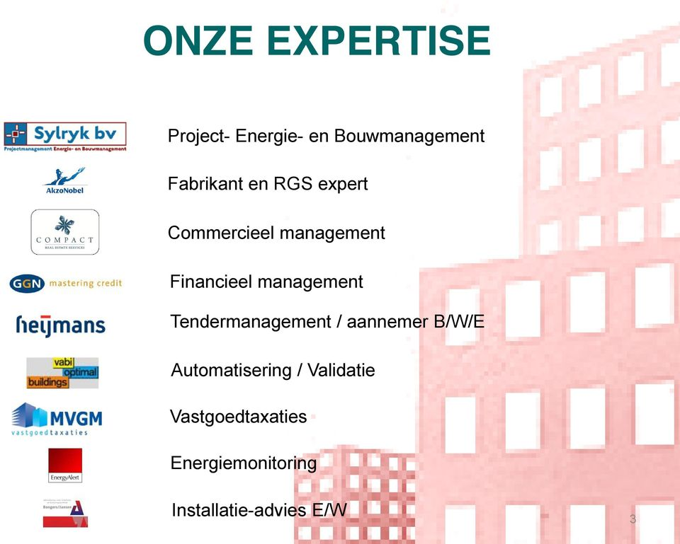 management Tendermanagement / aannemer B/W/E Automatisering