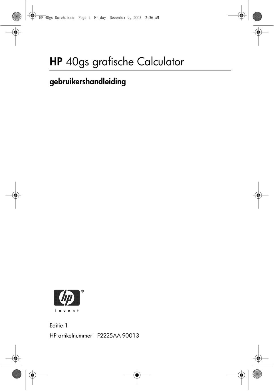 2:36 AM HP 40gs grafische Calculator
