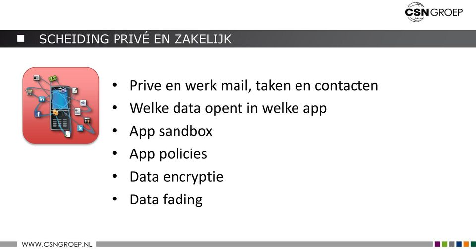 data opent in welke app App sandbox