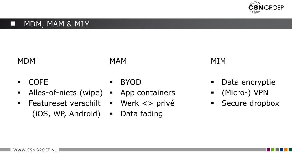 (ios, WP, Android) BYOD App containers Werk
