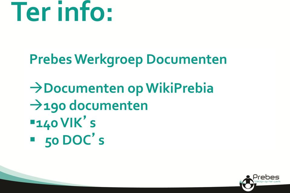 Documenten op WikiPrebia
