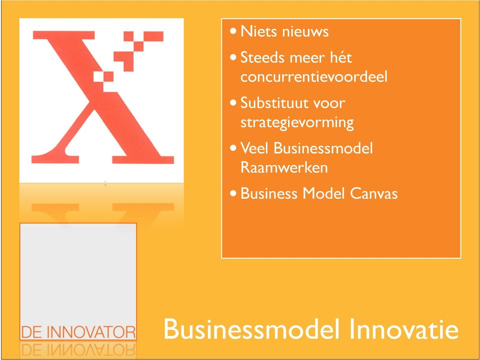 strategievorming Veel Businessmodel