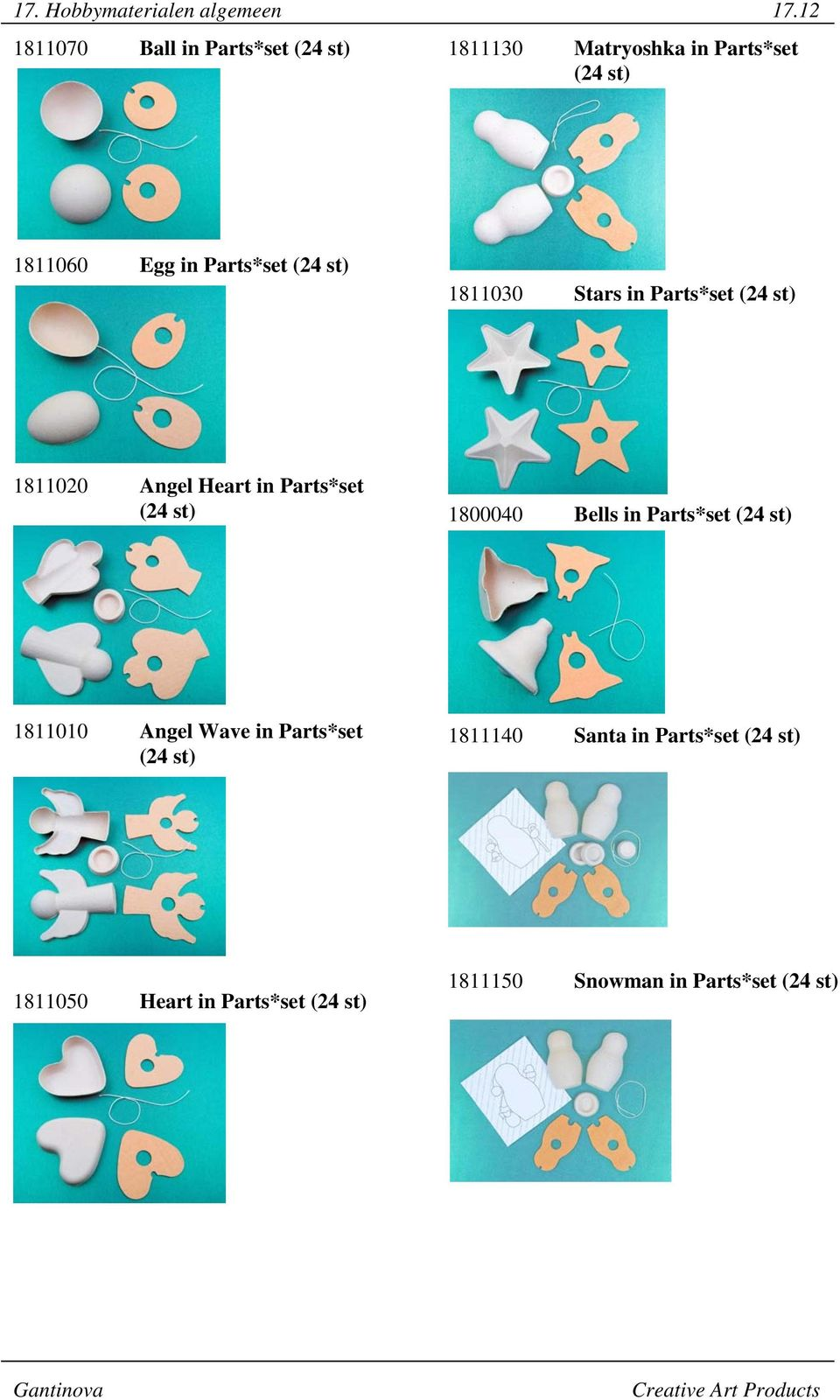 Parts*set (24 st) 1811030 Stars in Parts*set (24 st) 1811020 Angel Heart in Parts*set (24 st)