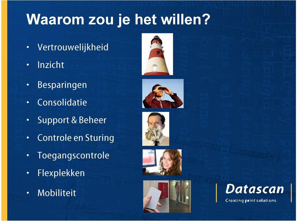 Consolidatie Support & Beheer Controle