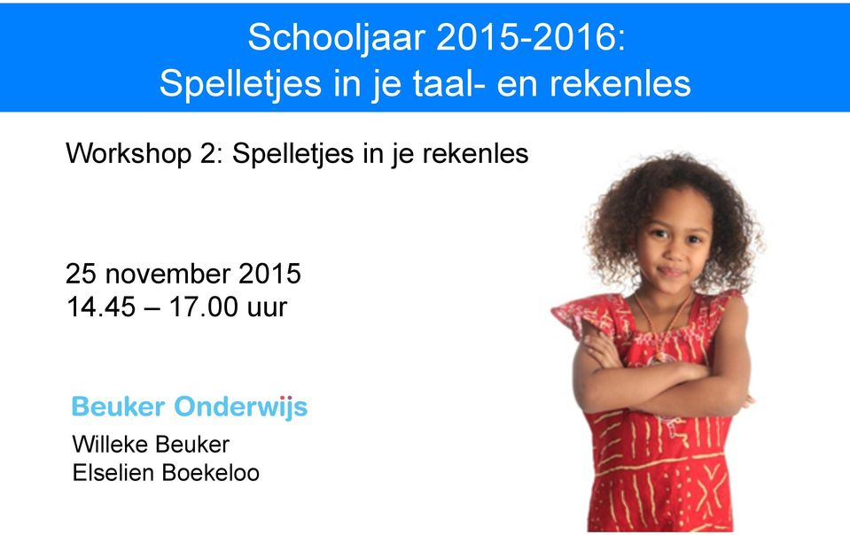 Spelletjes in je rekenles 25 november