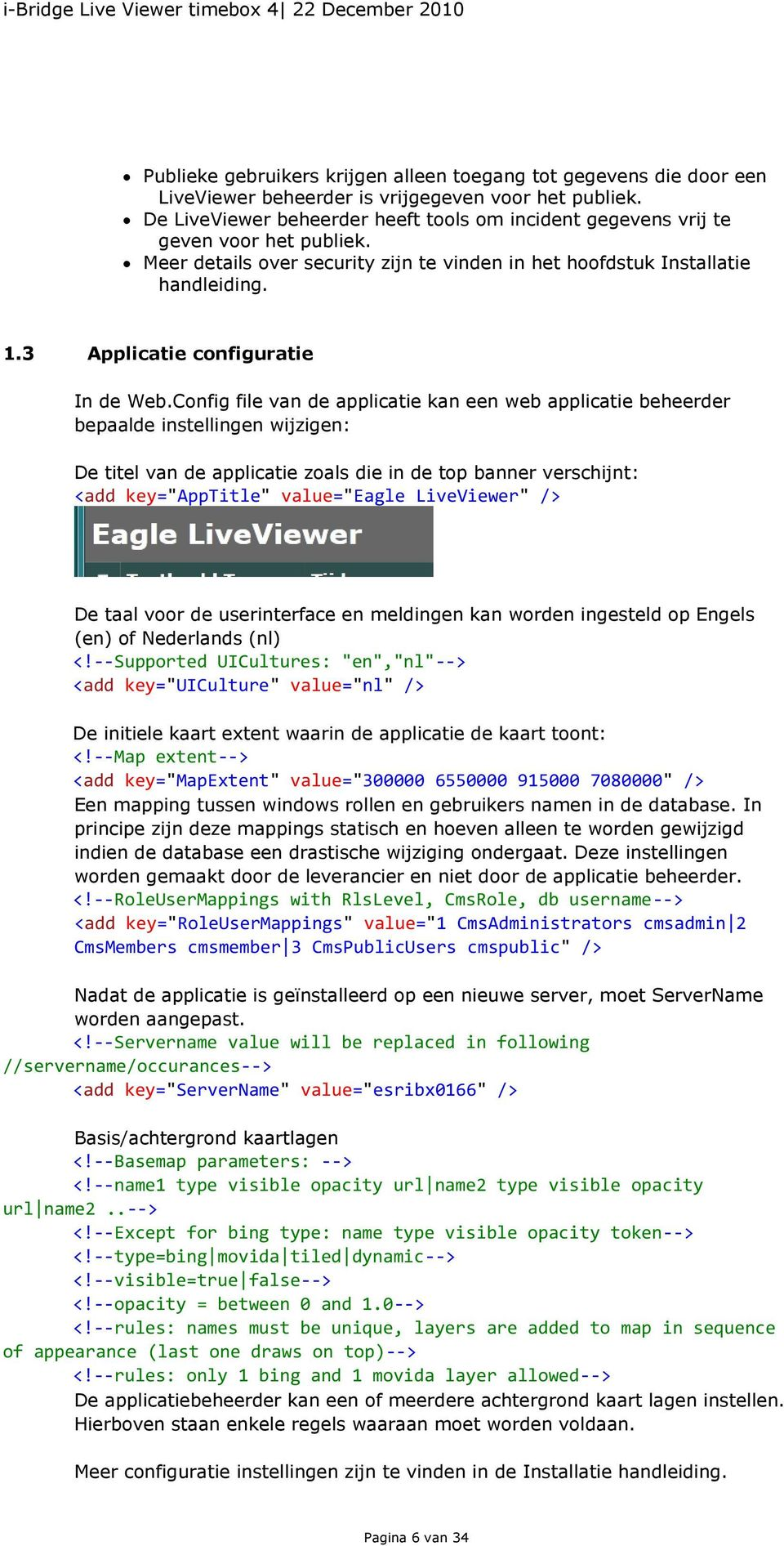 3 Applicatie configuratie In de Web.