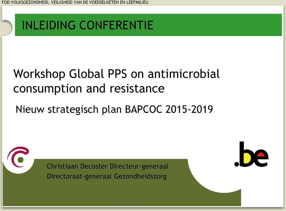 strategisch plan BAPCOC 2015-2019 Christiaan