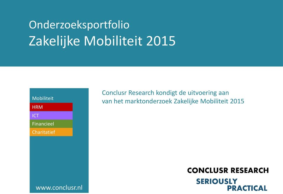 Conclusr Research kondigt