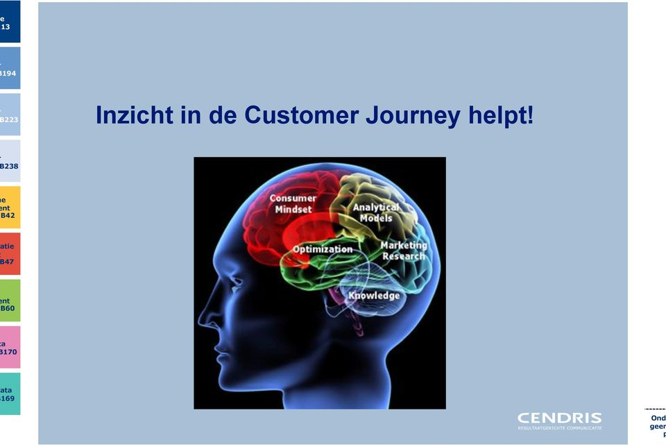 Inzicht in de Customer