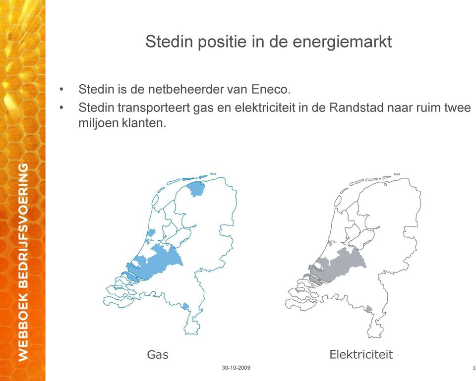 Stedin transporteert gas en elektriciteit in de
