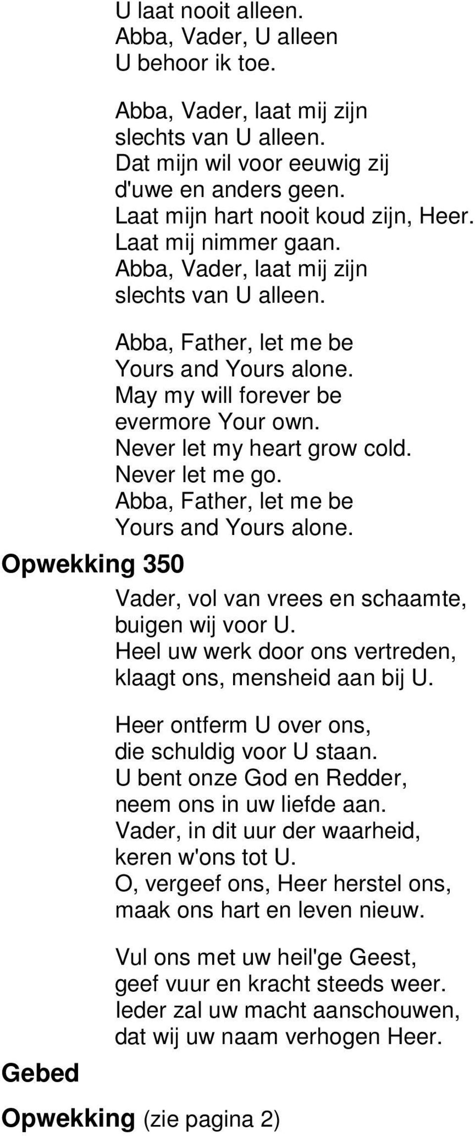 abba father let me be chords pdf