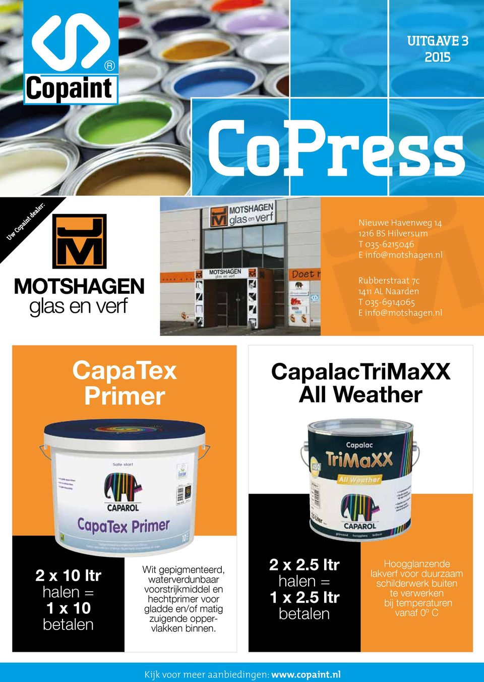 nl CapaTex Primer CapalacTriMaXX All Weather 2 x 10 ltr 1 x 10 Wit gepigmenteerd, waterverdunbaar