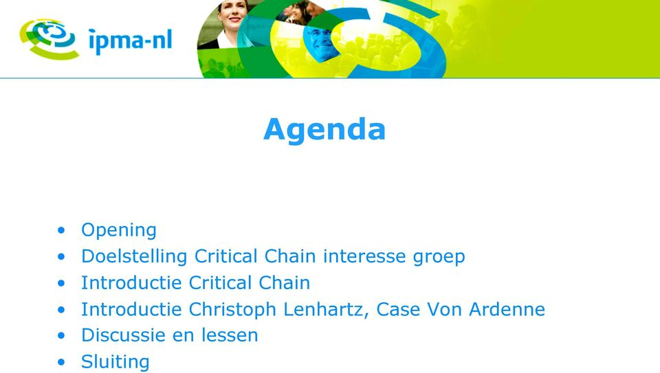 Critical Chain Introductie Christoph
