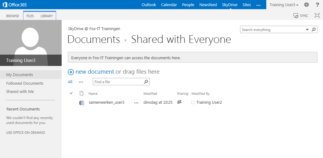 Office365 - SkyDrive