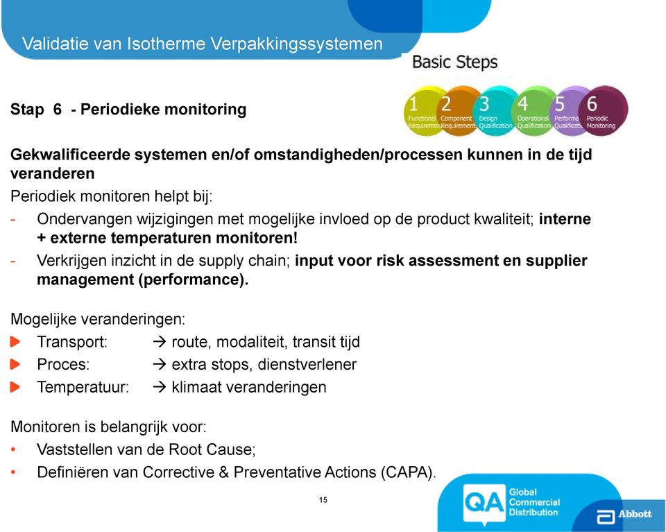 - Verkrijgen inzicht in de supply chain; input voor risk assessment en supplier management (performance).