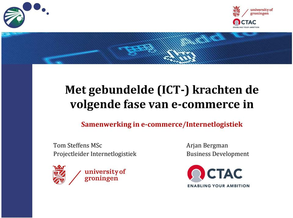 e-commerce/internetlogistiek Tom Steffens MSc