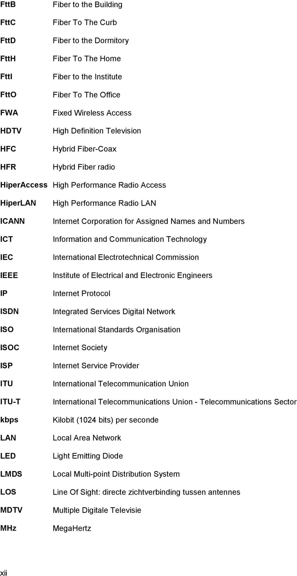 Performance Radio LAN Internet Corporation for Assigned Names and Numbers Information and Communication Technology International Electrotechnical Commission Institute of Electrical and Electronic