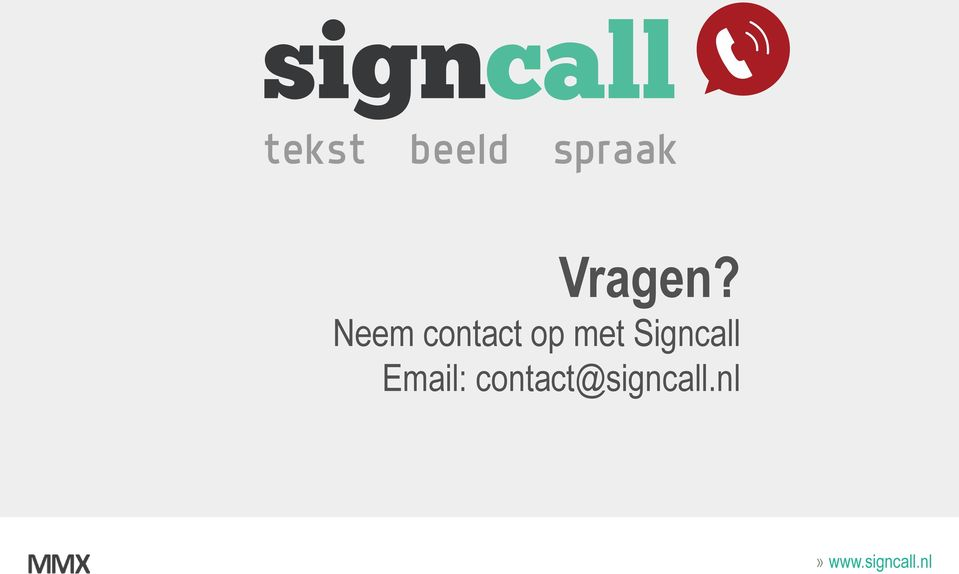 met Signcall