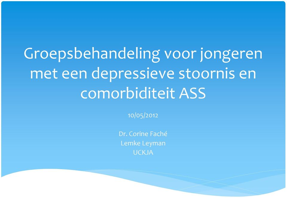 comorbiditeit ASS 10/05/2012 Dr.