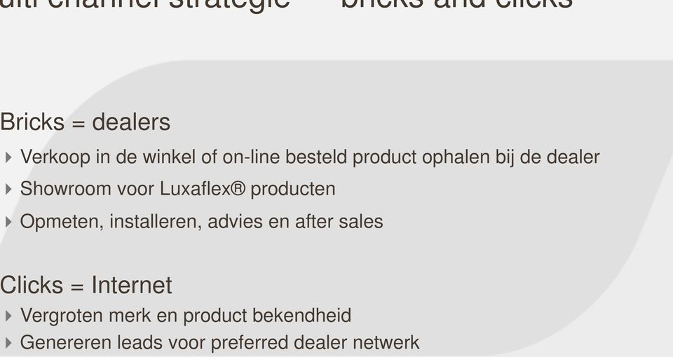 Luxaflex producten Opmeten, installeren, advies en after sales licks =