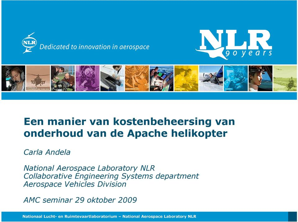 Systems department Aerospace Vehicles Division AMC seminar 29 oktober