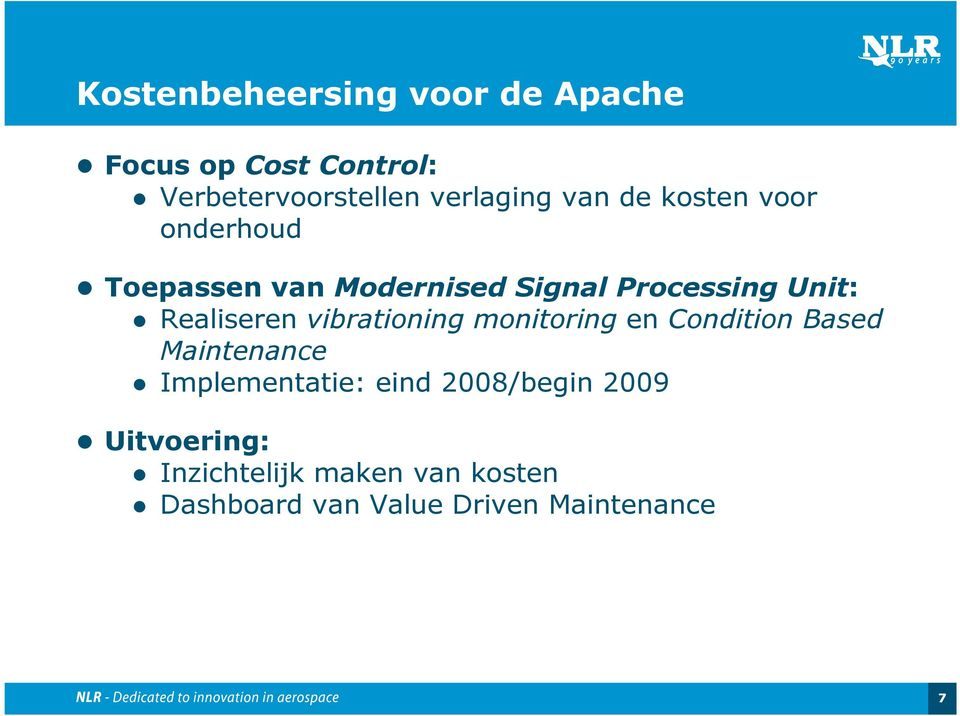 Realiseren vibrationing monitoring en Condition Based Maintenance Implementatie: eind