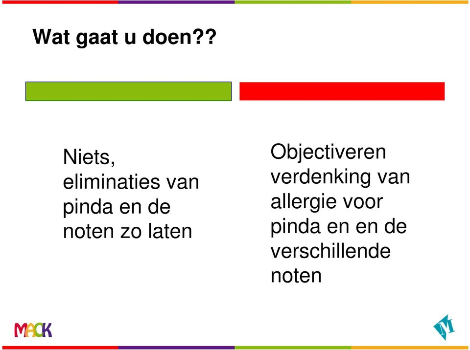 de noten zo laten Objectiveren